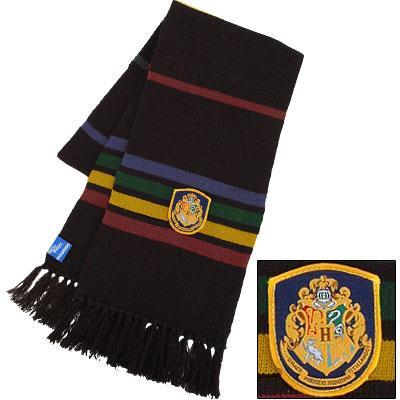 Harry Potter Black Rainbow Hogwarts Scarf