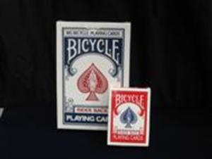 Bicycle Jumbo Cards -- Blue