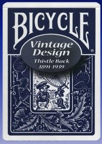 Bicycle Vintage Playing Cards - Thistle Back -- Blue