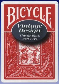 Bicycle Vintage Playing Cards - Thistle Back -- Red