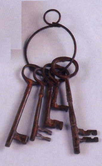 Antique Brass Keys on Ring