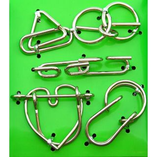 Hanayama Wire Puzzle Green Set