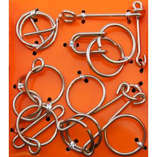 Hanayama Wire Puzzle Orange Set