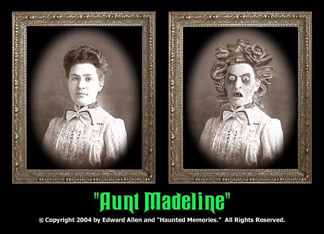 "Aunt Madeline - ""Haunted Memories"" Portrait 5""x7"""