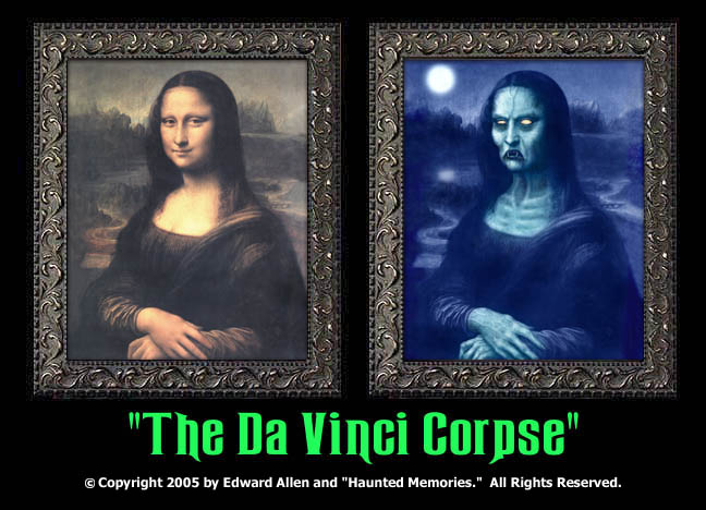 "The DaVinci Corpse - ""Haunted Memories"" Portrait 5""x7"""