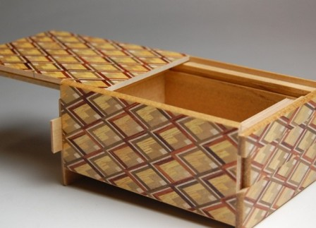 4 Sun 10 Step Kujabishi Japanese Puzzle Box
