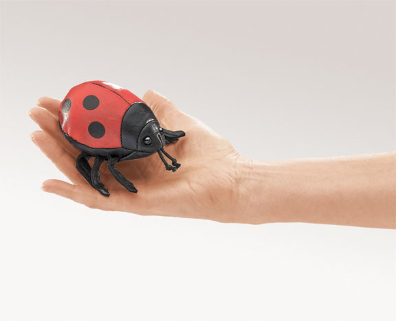 Mini Lady Bug Finger Puppet