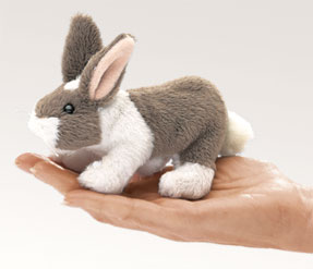 Mini Bunny Rabbit Finger Puppet