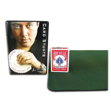 Card Stunts DVD w/ Green Close Up Pad & Bicycle Deck