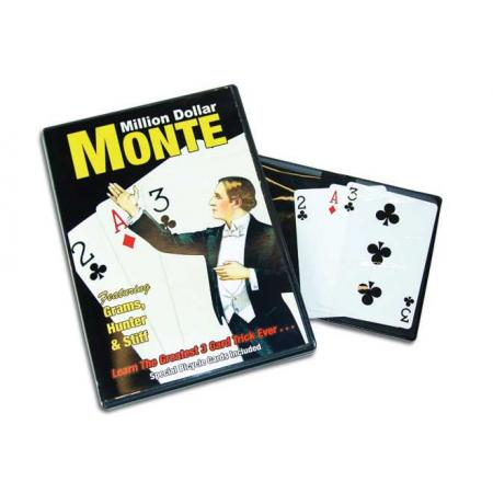 Million Dollar Monte DVD w/Bicycle Cards & Med Pad