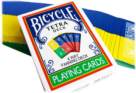 Bicycle Tetra Deck - 4 Way Fanning Deck - Click Image to Close