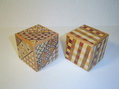 2 Sun 7 Steps Cube Yosegi Japanese Puzzle Box