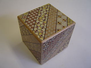 2 Sun 4 Steps Cube w/Drawer Japanese Puzzle Box