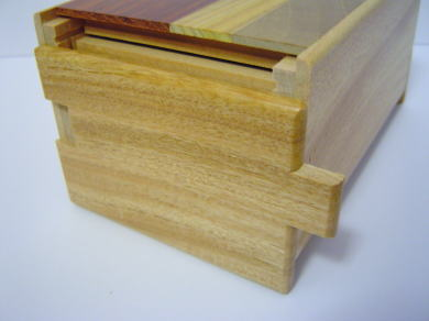 5 Sun 14 Steps Natural Kusu Wood Japanese Puzzle Box
