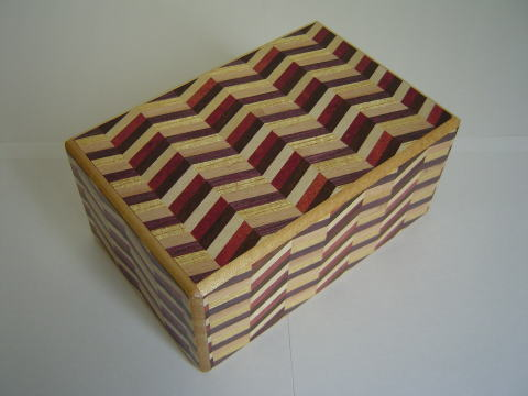 5 Sun 9 Step Notch Stripes Japanese Puzzle Box