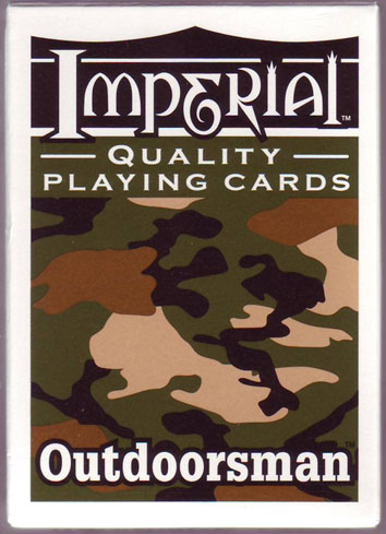 Outdoorsman; Camouflage Back Playing Cards