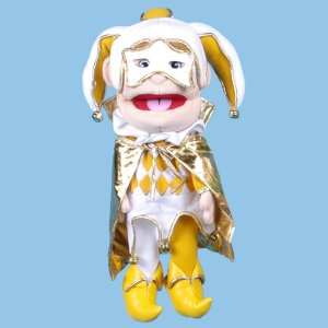Jester in Gold Hand Puppet