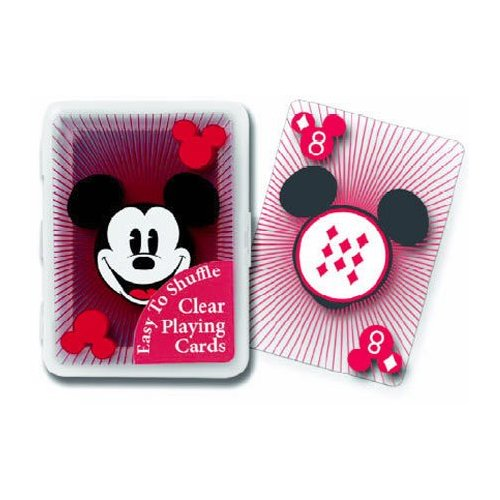 Mickey Mouse Clear Plastic Playing Cards