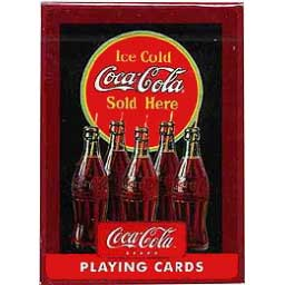 Coca-Cola Playing Cards Vintage Bottles