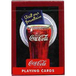 Coca-Cola Playing Cards Vintage Glass